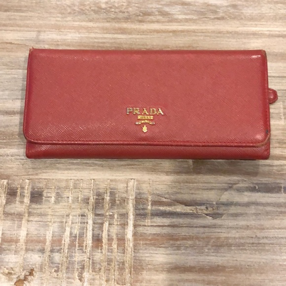 c6992595040dde Prada Bags | Red Wallet | Poshmark